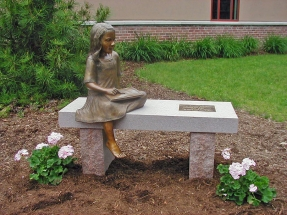 """Photo of sculpture piece """"Every Child is an Artist"""""""