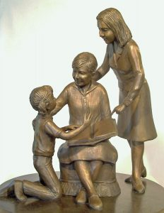 "Photo of sculpture piece ""Generations"""
