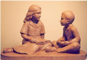 "Photo of sculpture piece ""Jesse Provenzano Memorial"""